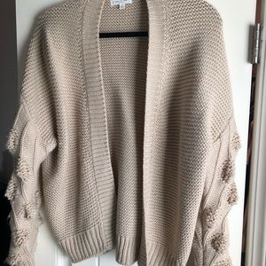 Bubble Sleeve Cardigan with sleeve detail